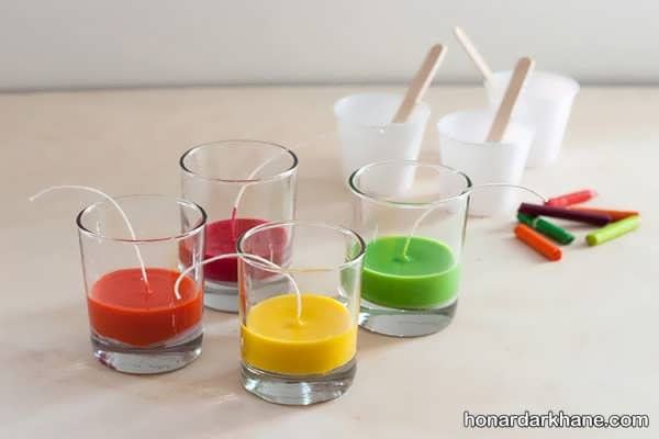 شیوه ساخت شمع با مداد شمعی