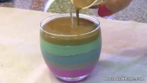 نحوه ساختن شمع با مداد شمعی رنگی
