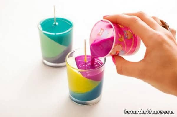 نحوه درست کردن شمع رنگی با مداد شمعی