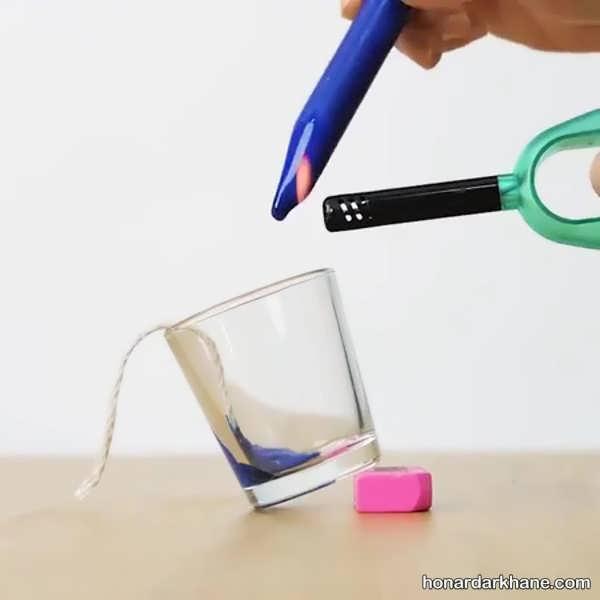 طریقه درست کردن شمع با مداد شمعی اضافی