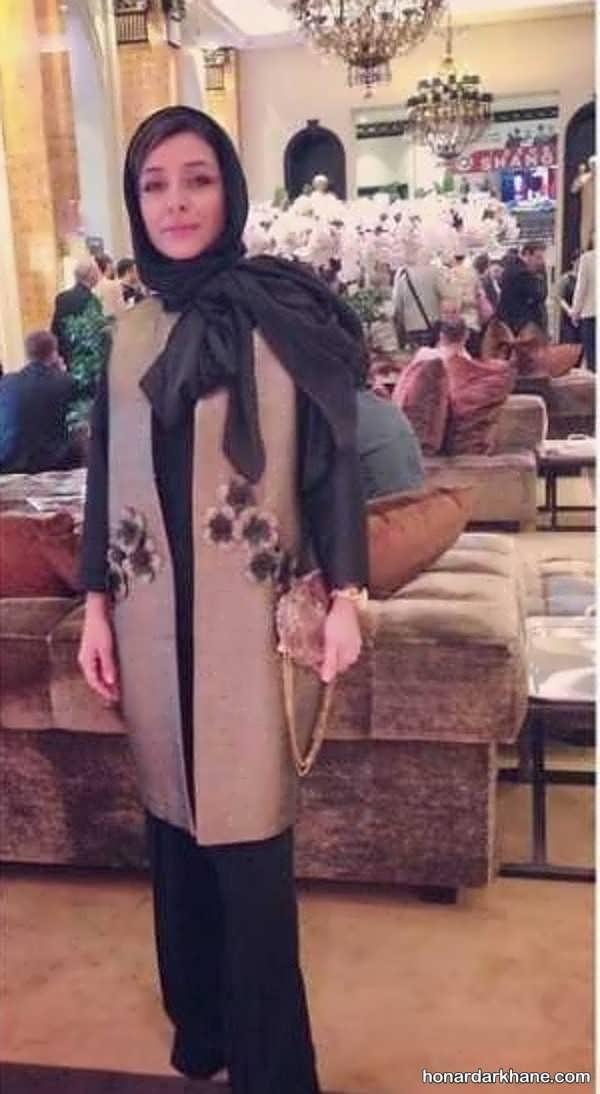 انواع مانتو زیبا ساره بیات با طراحی جذاب