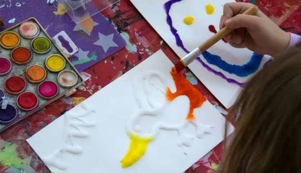 انواع مدل های مختلف نقاشی با آبرنگ یرای کودکان