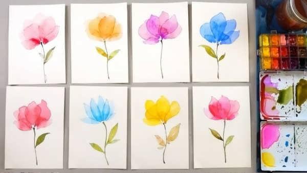 آموزش نقاشی با آبرنگ برای کودکان