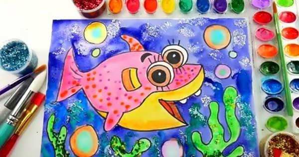 مدل های زیبا نقاشی با آبرنگ برای کودکان