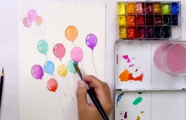 انواع نقاشی کودکانه با آبرنگ