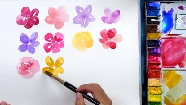 انواع نقاشی جالب و خلاقانه با آبرنگ