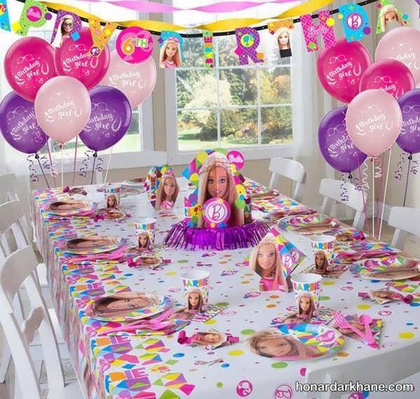 مدل های خاص برپایی جشن تولد دخترانه با طرح باربی