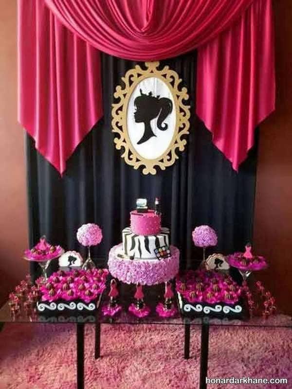 مدل های زیبا و جالب تزیینات جشن تولد با زمینه باربی
