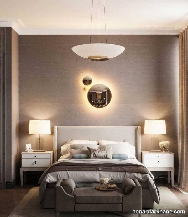 انواع سبک های جالب طراحی نور اتاق خواب