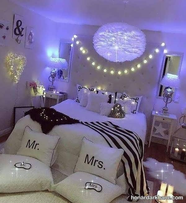 انواع نورپردازی مدرن و شیک اتاق خواب
