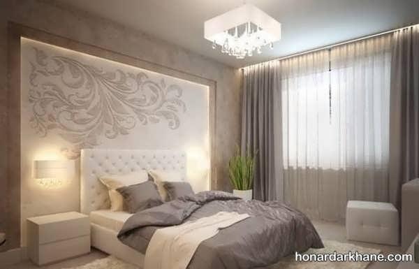 انواع ایده های جالب طراحی نور اتاق خواب