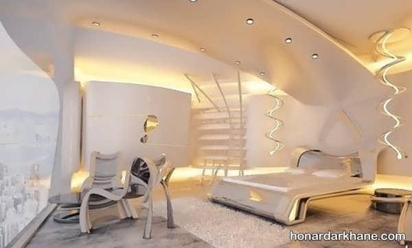 انواع نوردهی شیک اتاق خواب