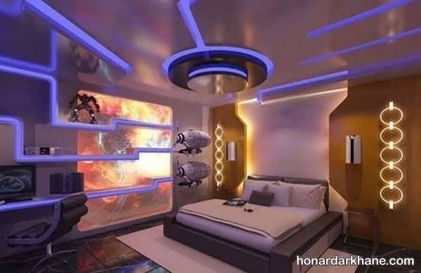 مدل های جالب طراحی نور اتاق خواب