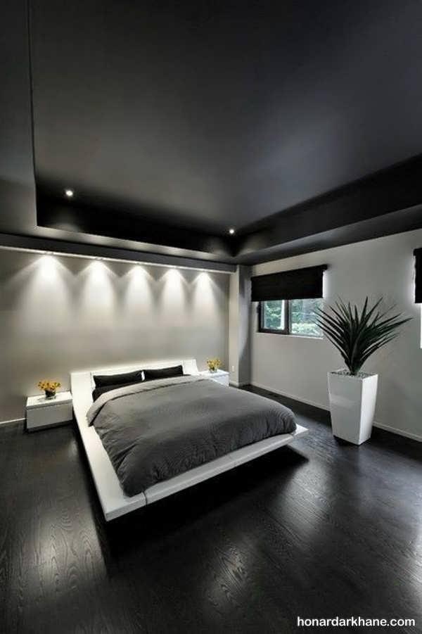 انواع سبک های مدرن پردازش نور اتاق خواب