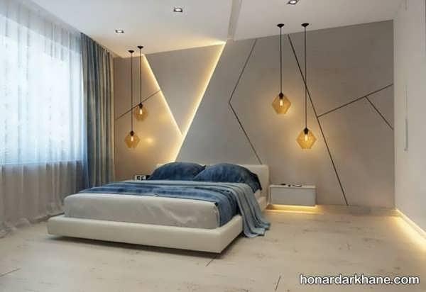 مدل های جالب و خاص نورپردازی اتاق خواب