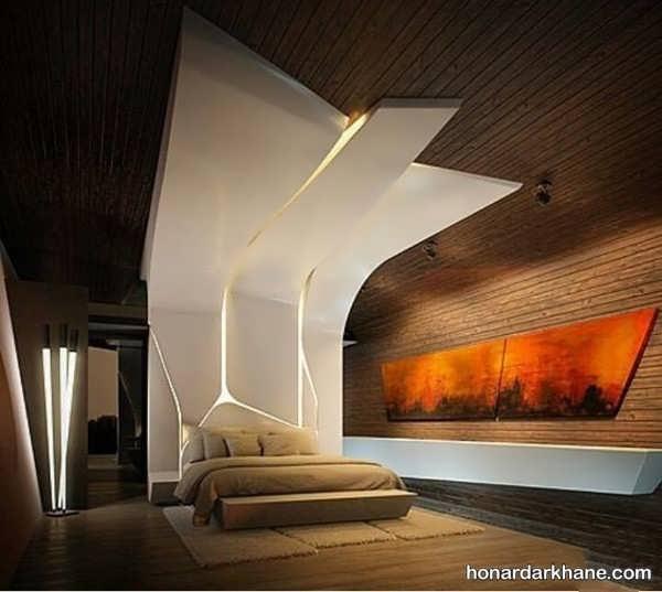 انواع سبک های خلاقانه طراحی نور اتاق خواب