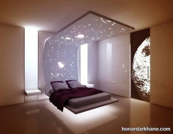انواع ایده های جدید دیزاین نور اتاق خواب