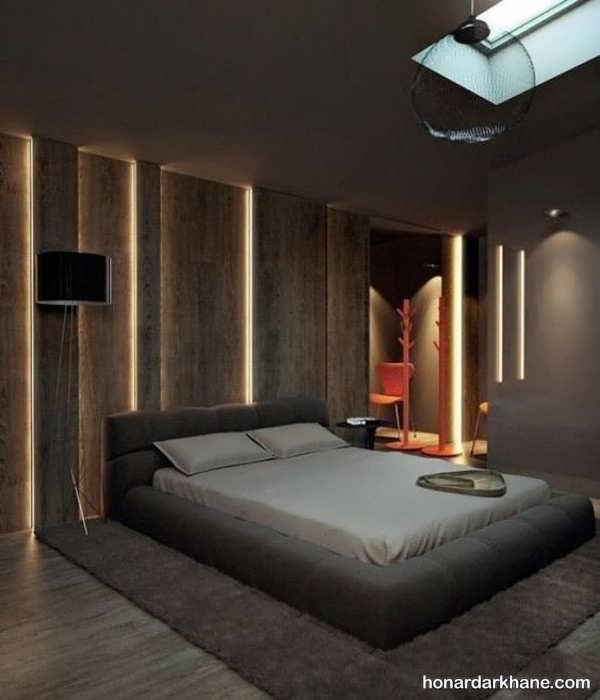 مدل های جالب و جدید طراحی نور اتاق خواب