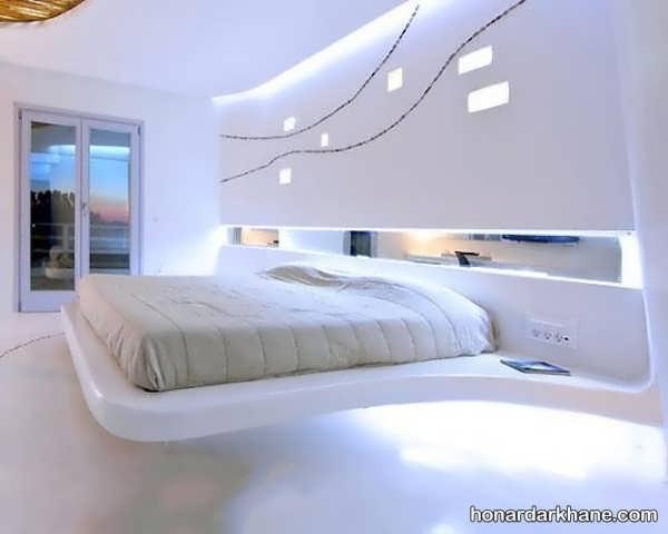 انواع ایده های جالب دیزاین نور اتاق خواب