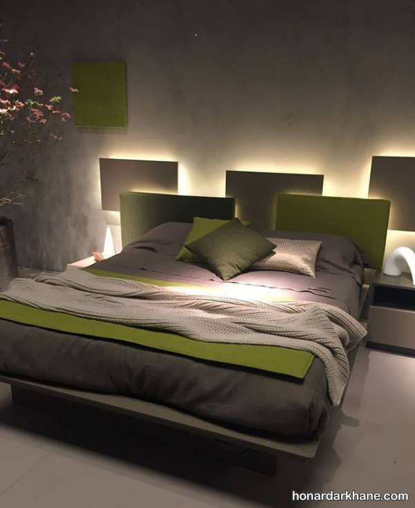 انواع مختلف دیزاین نور اتاق خواب