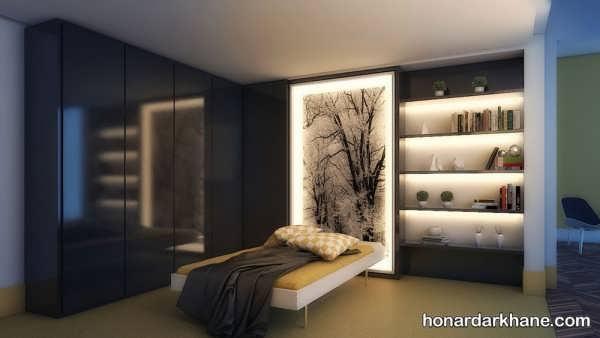 انواع دیزاین نور زیبا و جالب اتاق خواب