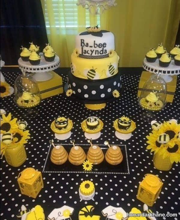 انواع برگزاری جشن تولد با تم زنبور عسل