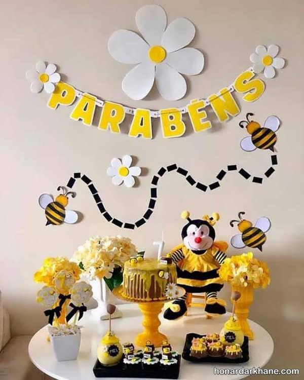 مدل های جذاب تزیین تولد با طرح زنبوری