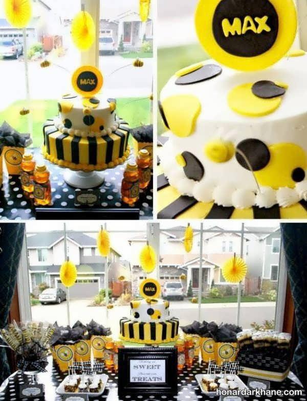 مدل های زیبا و خاص دیزاین تولد با تم تولد زنبوری