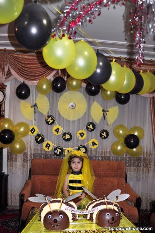 مدل های جدید دیزاین تولد با تم زنبور عسل