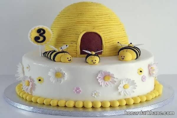 انواع سبک های جالب تزیینات تولد با طرح زنبوری
