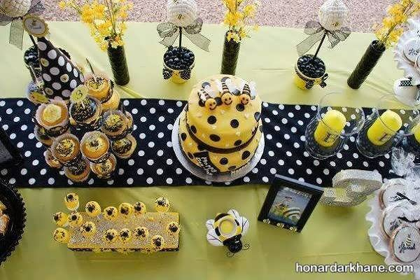 انواع ایده های جالب تزیینات تولد با تم زنبور عسل