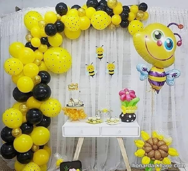 مدل های شیک دیزاین تولد با تم زنبور عسل