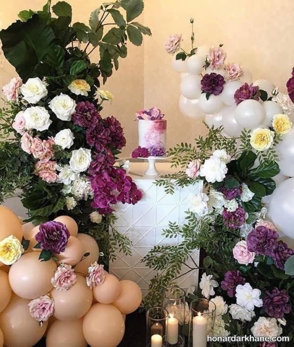 انواع تزیینات شیک و جالب گل برای تولد