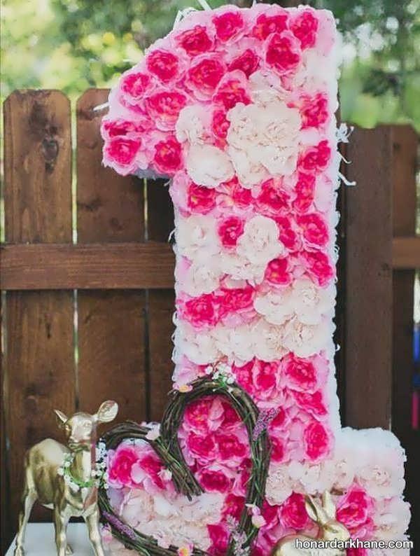 انواع تزیینات گل جالب و زیبا برای تولد