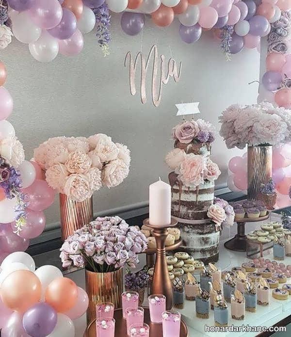 مدل های زیبا تزیینات گل برای تولد
