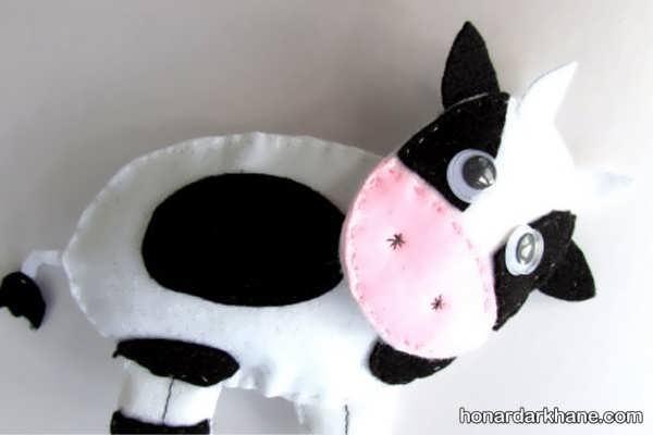 نحوه درست کردن عروسک گاو