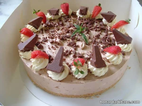 انواع آراستن چیز کیک با ایده های جدید