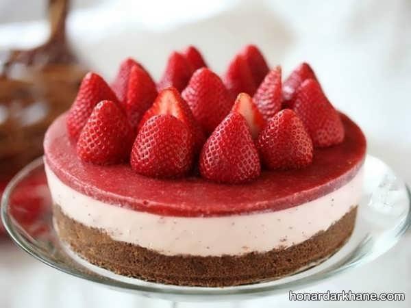 انواع دیزاین چیز کیک با میوه