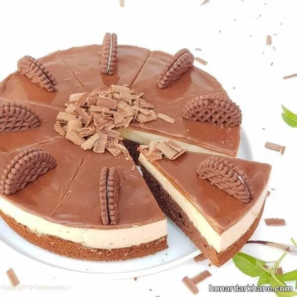 انواع طراحی چیز کیک با شکلات