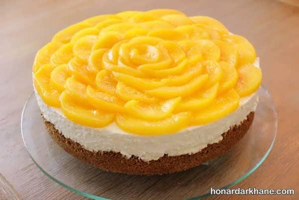 انواع دیزاین جدید چیز کیک با میوه