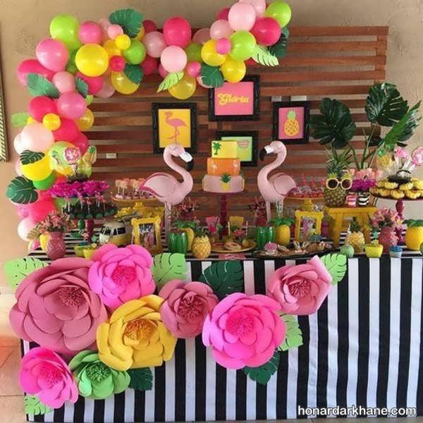 انواع مختلف برگزاری جشن تولد با طرح فلامینگو