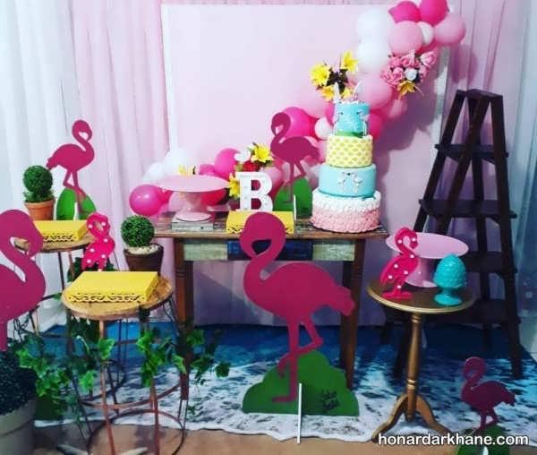 انواع مدل های زیبا و جالب برپایی مراسم تولد با طرح فلامینگو