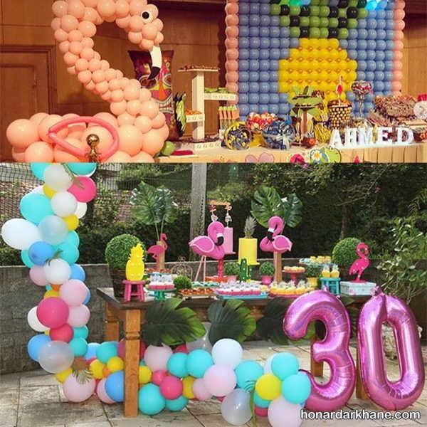 مدل های زیبا تزیینات تولد با تم تولد فلامینگو