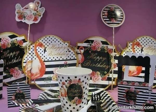 انواع برگزاری جشن تولد با طرح فلامینگو