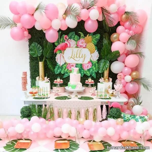 انواع ایده های جالب برگزاری جشن تولد دخترانه با طرح فلامینگو