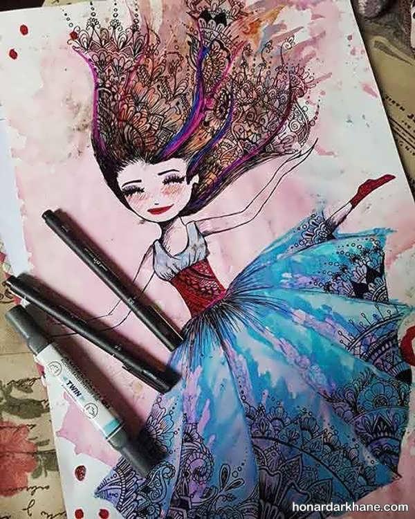 مدل های زیبا و جالب نقاشی دخترانه