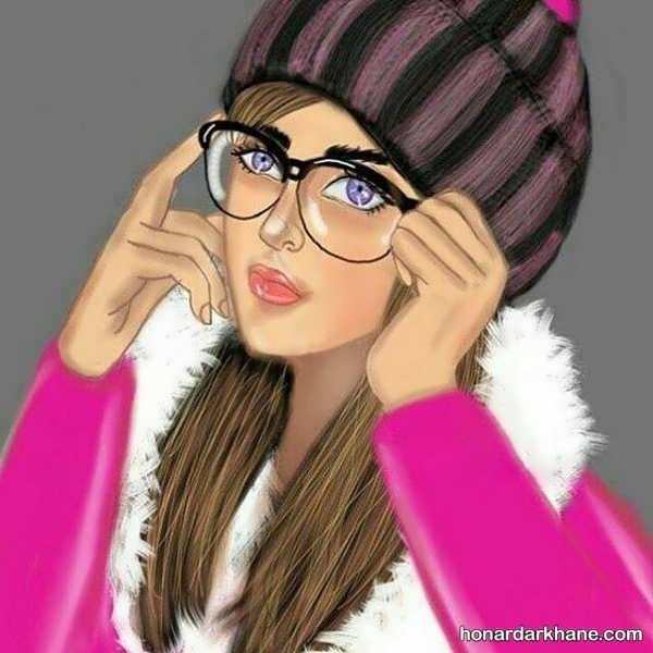 انواع نقاشی دخترانه با طرح های جالب