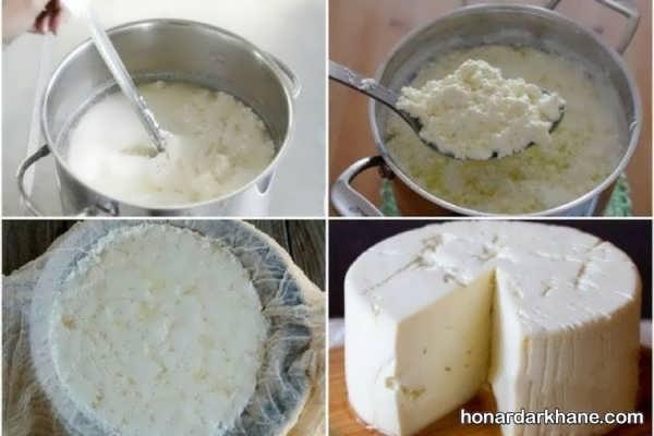 طریقه درست کردن پنیر خانگی
