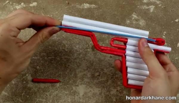 شیوه درست کردن اسلحه کاغذی