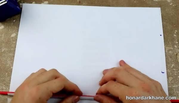 شیوه درست کردن تفنگ کاغذی